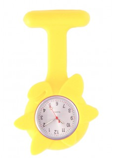 Silicone Spring Flower Fob Watch Yellow