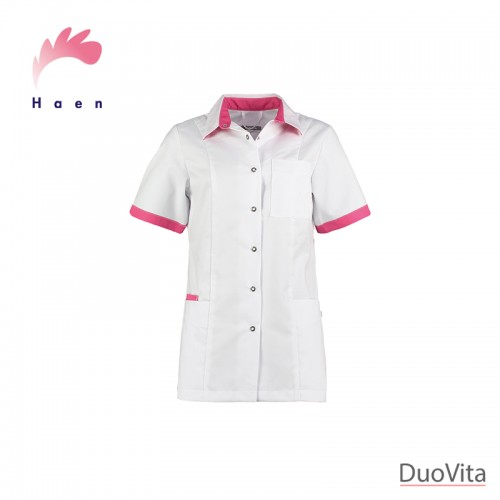 Haen Nurse Uniform Fijke White/Shocking Pink