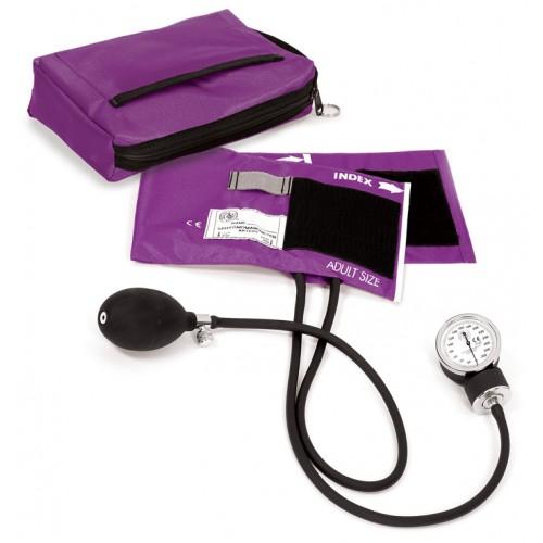 Premium Aneroid Sphygmomanometer with Carry Case Purple
