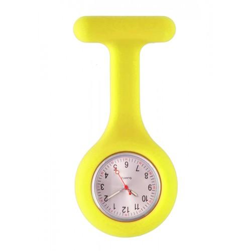 Silicone Nurses Fob Watch Standard Yellow