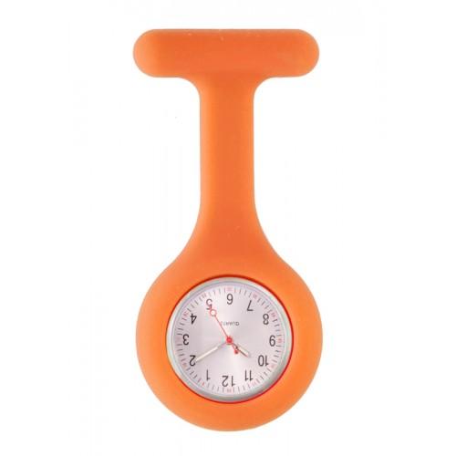Silicone Nurses Fob Watch Standard Orange