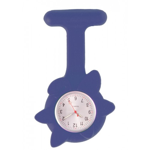 Silicone Spring Flower Fob Watch Navy Blue