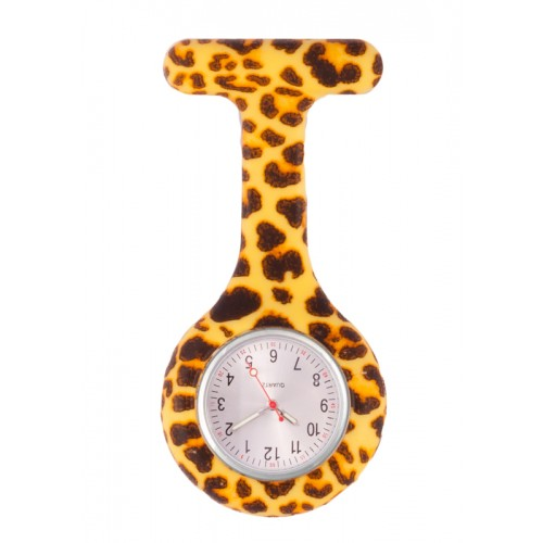 Nurses Fob Watch Leopard