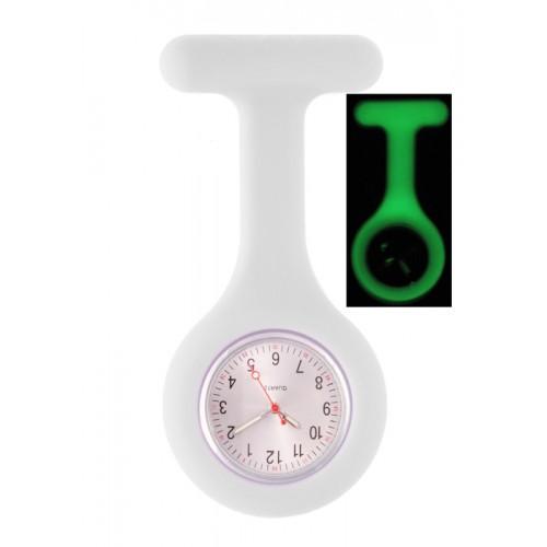 Silicone Nurses Fob Watch Glow White