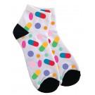 Women's Ankle Socks Colorful Pills