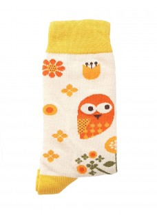 Happy Womens Socks Owl