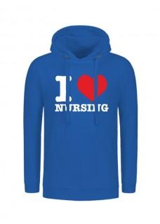 Hoody I Love Nursing Blue