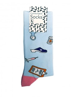 Happy Womens Socks Instruments Blue Pink