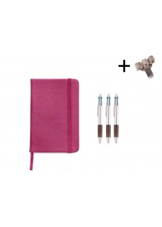 Set Notebook A5 + Pens Pink