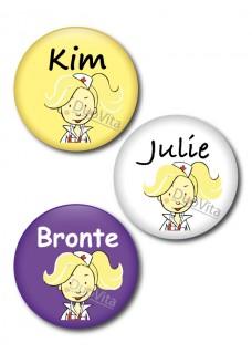 Button Nurse Blonde Hair