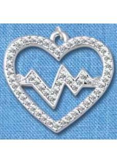 Pendant Heartbeat Silver (Large)