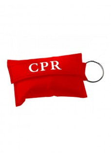 CPR Mask Key Ring Red