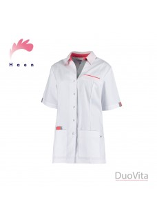 Haen Nurse Uniform Paulien White / Grey Orient Pink