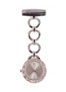 Nurses Fob Watch Round Silver