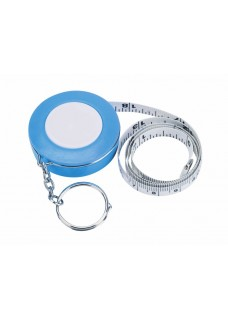 Measurement Tape Key Ring Blue
