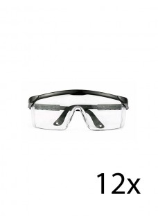 Hospitrix Safety Glasses Black 12 pcs