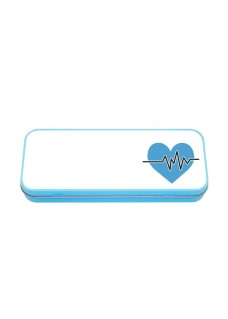 Metal Stationary Case Blue ECG Blue