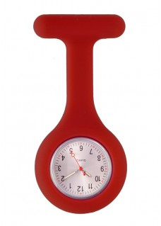 Silicone Nurses Fob Watch Standard Burgundy