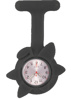 Silicone Spring Flower Fob Watch Black