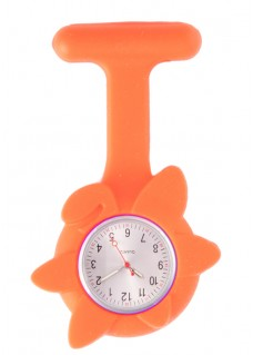 Silicone Spring Flower Fob Watch Orange