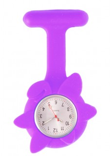 Silicone Spring Flower Fob Watch Purple