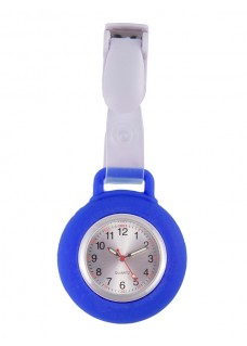Silicone Nurses Fob Watch Clip Royal Blue
