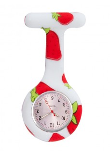Nurses Fob Watch Strawberry