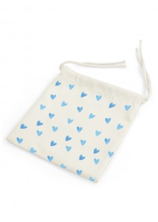 Bag for Facemask Blue Hearts