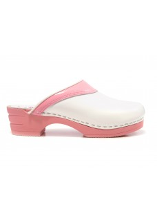 OUTLET size 7 Moofs Pink and White