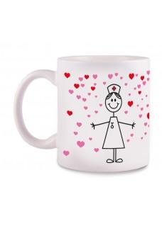 Mug Stick Heart White