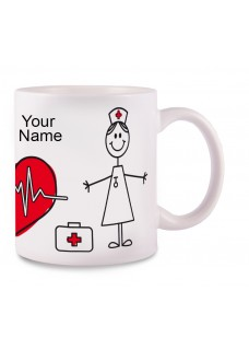 Mug Stick Nurse with Name Print