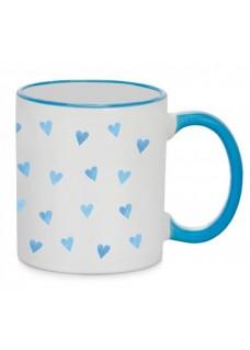 Mug Blue Hearts Blue