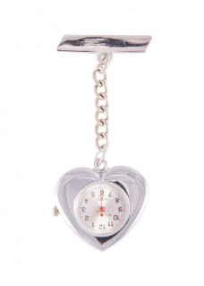 Silver Heart Fob Watch