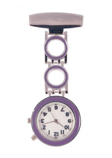 Nurses Fob Watch Bubble Purple