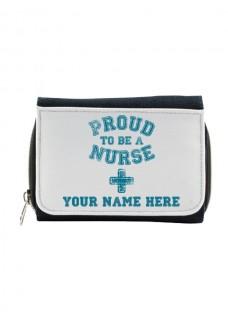 Ladies Denim Purse Proud Nurse with Name Print