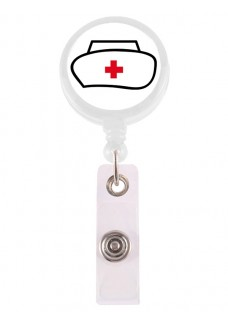 Retracteze ID Holder Nurse Hat