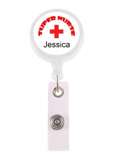 Retracteze ID Holder Super Nurse 1 with FREE name print