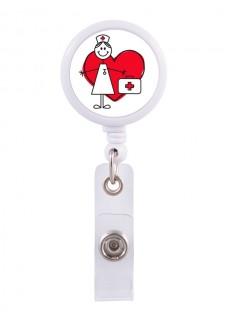 Retracteze ID Holder Stick Nurse