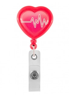 Retracteze ID Holder Heart ECG