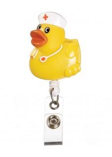 Deluxe Retracteze ID Holder Yellow Duck