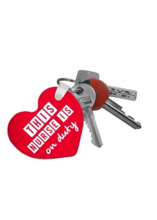 Key Chain Heart Nurse Duty