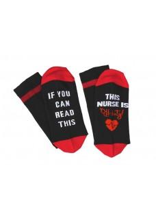 Nurse Socks Off Duty Black