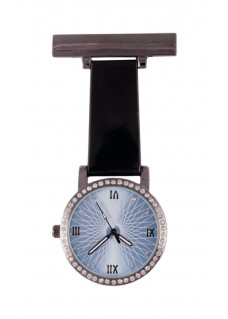 Nurses Fob Watch Glamour Black