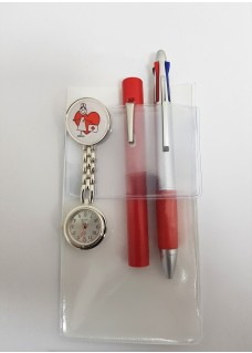 Pocket Protector A6 White + Accessories Red