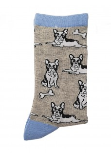 Happy Womens Socks Bulldog