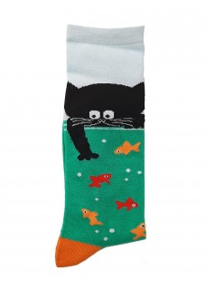 Happy Womens Socks Cat