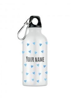 Sport Drink Bottle Blue Hearts