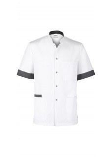 Haen Nurse Uniform Floris White/Charcoal