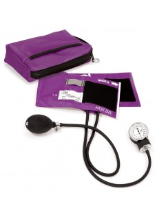 Premium Aneroid Sphygmomanometer with Carry Case Purple