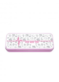 Metal Stationary Case Symbols Grey